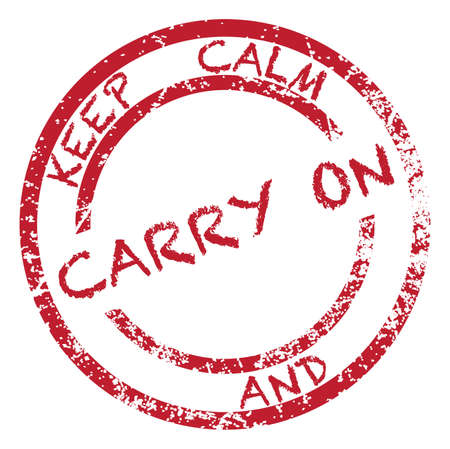 keep calm and carry on: A keep calm and carry on stamp isolated on a white background