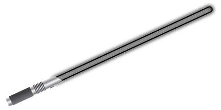 A light beam sword isolated on a white background Ilustracja