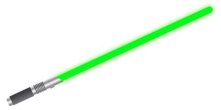 Een lichtstraal zwaard geïsoleerd op een witte achtergrond