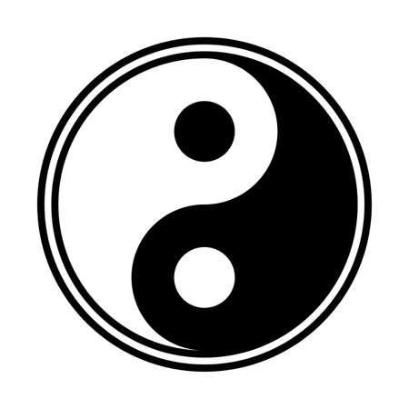 Un design yin et yang isolé sur fond blanc