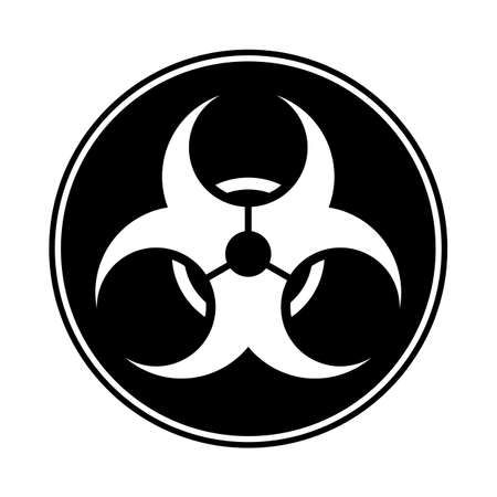 A biohazard symbol isolated on a white background