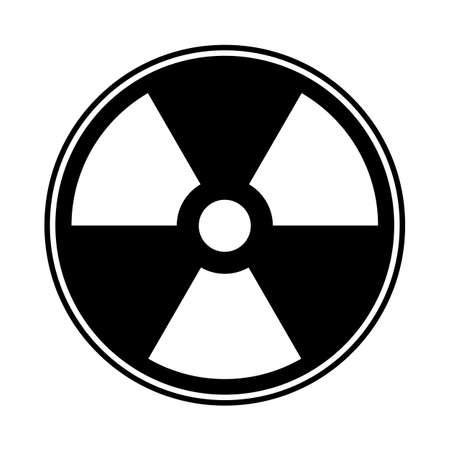 A radioactive symbol isolated on a white background Illustration