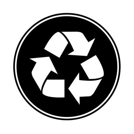 A recycle symbol isolated on a white background
