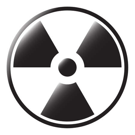 A radioactive symbol isolated on a white background Ilustracja