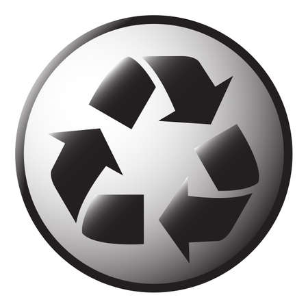 A recycle icon isolated on a white background