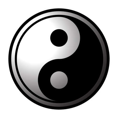 A yin and yang icon design isolated on a white background Ilustracja