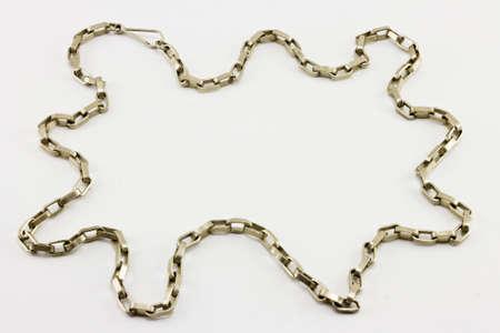 platinum: anchor chain, platinum, for men Stock Photo