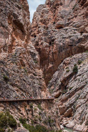 'Caminito del rey' a place in the mountains of Malaga to do hiking.