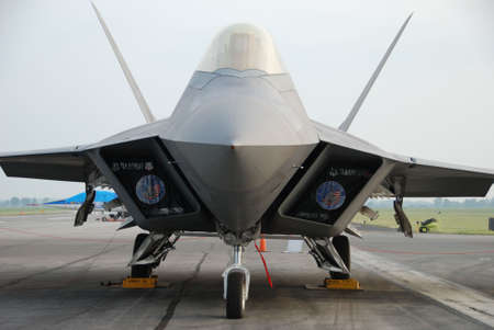 raptor: F22 Raptor Air Force Military Jet Fighter Airplane Aircraft Stock Photo