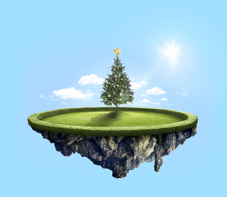 dashing: Beautiful decorated Christmas tree in the amazing floating island