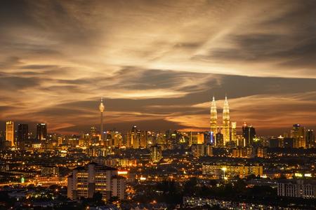 Top view of Kuala Lumper skyline at twilight Reklamní fotografie