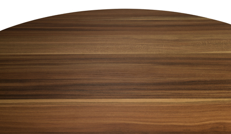 Empty wooden round table top