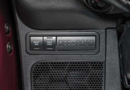 Car interior OFF-ROAD button