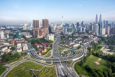 Top view of Kuala Lumper skyline Redactioneel