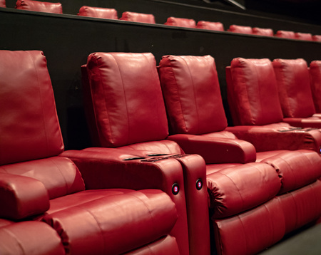 A few rows of recliner movie theater seats in a luxury movie theater Reklamní fotografie