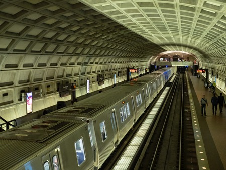 New 7000 series metro car rolls in to Dupont Circle station WMATA Editorial