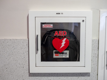 Automated external defibrillator AED machine at BWI Airport