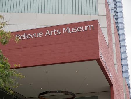 Bellevue Arts Museum sign above entrance