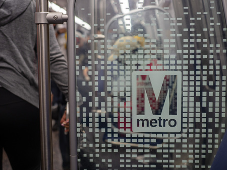 Washington Metropolitan Area Transit Authority WMATA metro logo on new 7000 series train.