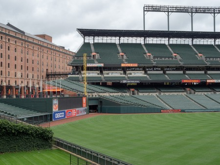 Camden Yards, stadium of the Baltimore Orioles, empty in the offseason 報道画像
