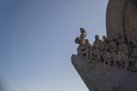Padrao dos Descobrimentos monument of discovery in fading daylight sunset Editorial
