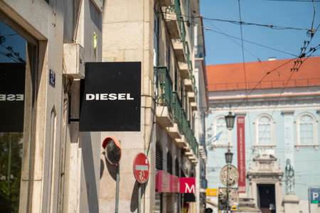 Diesel designer clothes sign outside of store