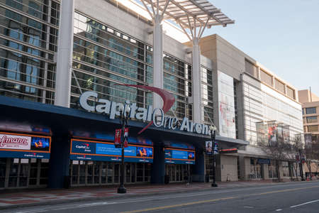 Capital One Arena home of DC sports teams Wizards and Cap entrance