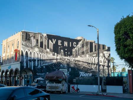Venice Beach artwork mural on display
