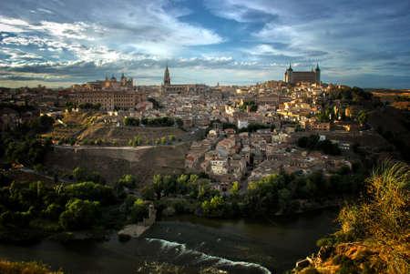 toledo: Toledo and Tajo river, Spain