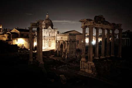 Roman Forum at night photo