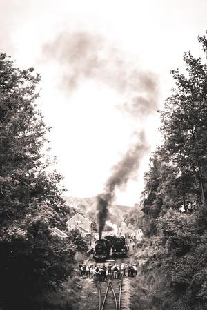 Steam locomotive in the Belgian Ardennes Banco de Imagens
