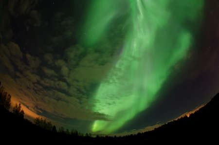 suomi: Northern lights in the south of Finland