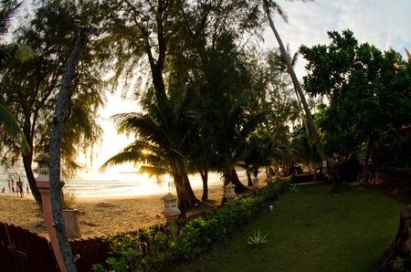 chang: Beach of Koh Chang at sunset