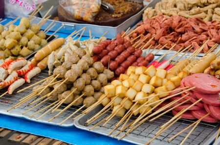 stall: The stall of a  food market in Thailand