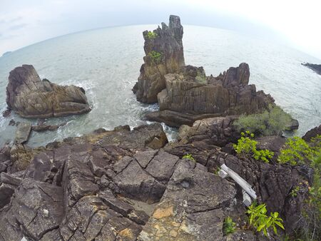 chang: The rocky viewpoint on Koh Chang in Thailand