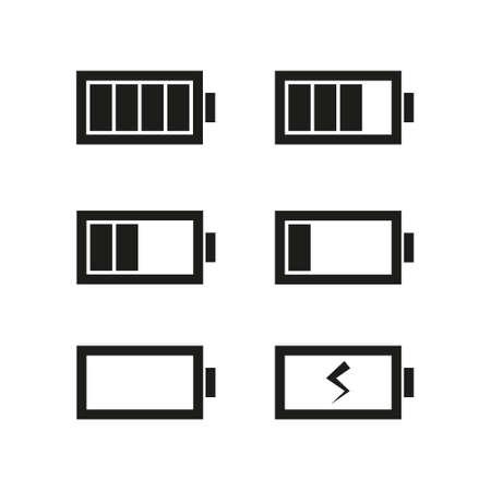 Battery icons set illustration isolated on white background Ilustrace