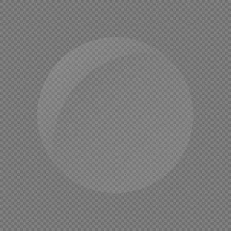 Vector isolated texture of round glass plate stock illustration on transparent background.