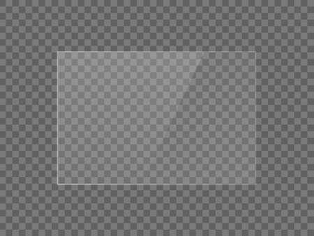 Texture d'effet de réflexion de miroir vectoriel pour fenêtre en verre, en plastique ou en acrylique. png forme rectangle 3 x 2 brillant, éclat, lumière, éblouissement, plaque transparente