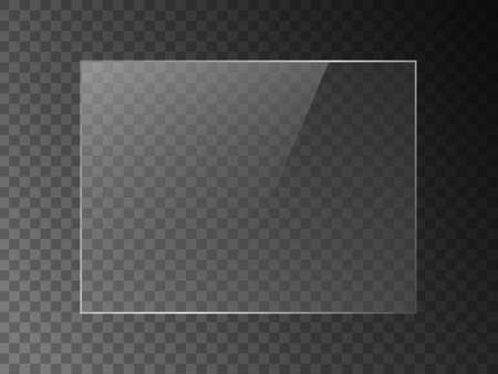 Vector mirror reflection effect texture for glass, plastic or acrylic window. png rectangle shape 4 x 3 glossy, shine, light, glare, clear plate