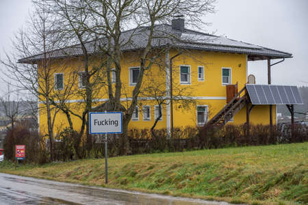Feb 3, 2020 - Fucking, Austria: Weird offensive obscene Austrian town name plate in the country field Editöryel