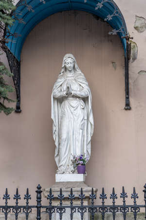 Immaculata sculpture of Virgin Mary statue in Buda street Stockfoto