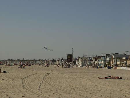 カリフォルニアのビーチの 1 日 写真素材