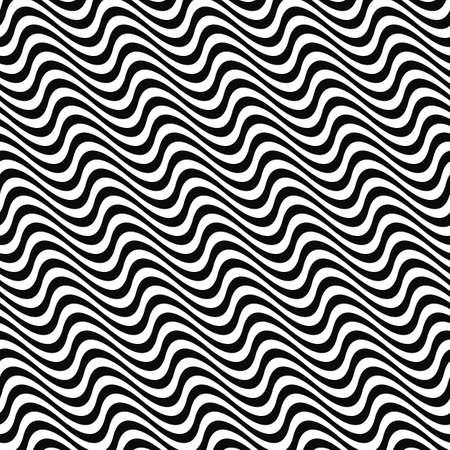 black в white: Black white seamless wave pattern