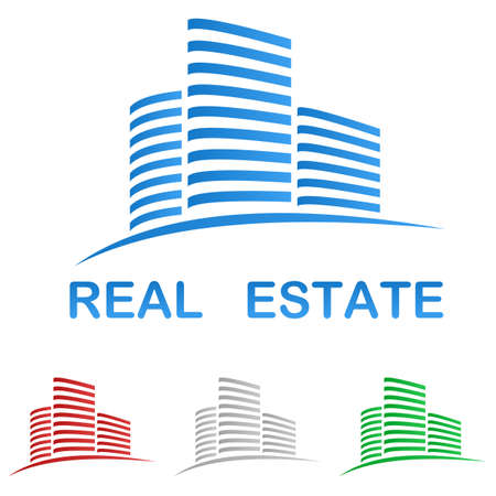 commercial property: Real estate vector logo design template Illustration
