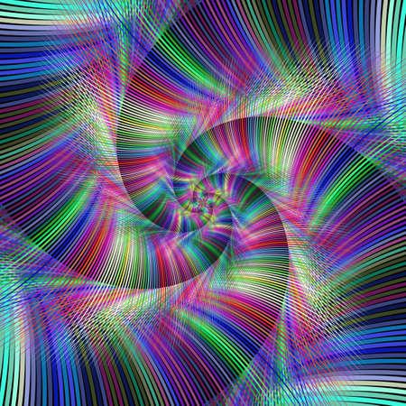 fractal background: Colorful psychedelic spiral fractal background design