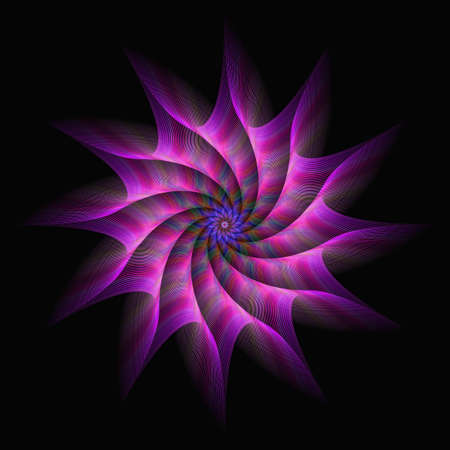 spinning: Pink purple motion star fractal abstract