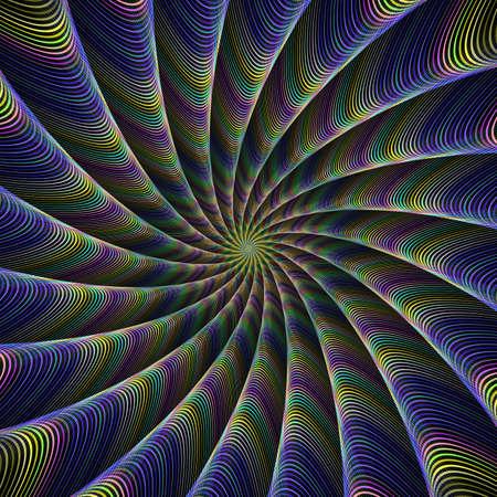 tentacles: Color tentacles fractal design Illustration