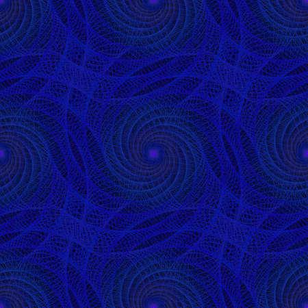 spiral pattern: Blue seamless fractal spiral pattern background design