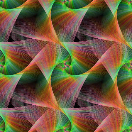 veils: Seamless computer generated color fractal veils background