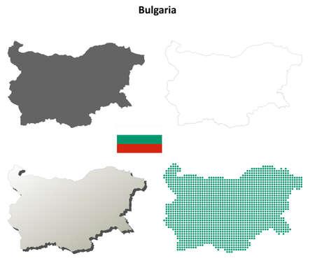 bulgaria: Bulgaria outline map set